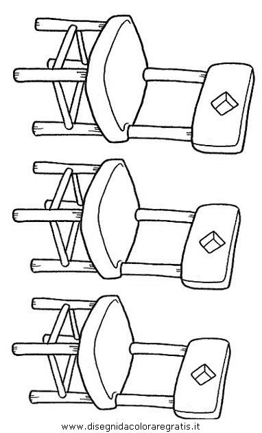 Disegno sedie misti da colorare - Sedia a dondolo disegno ...