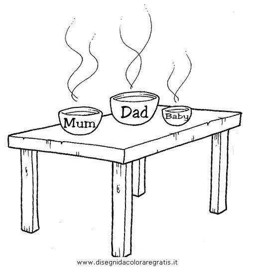 Disegno tavolo misti da colorare - Tavolo da disegno ikea ...