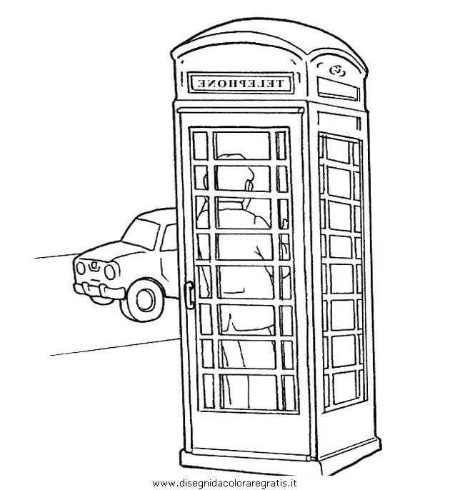 Disegno teleofno cabina misti da colorare for Disegni di cabina di campagna