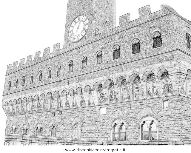 Disegno firenze 5 misti da colorare for Immagini teschi disegnati