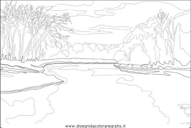Disegno fiume fiumi 07 misti da colorare for Disegni paesaggi da colorare