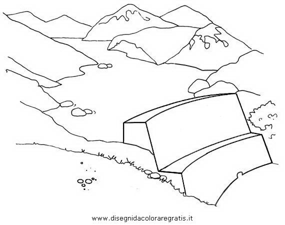 Disegno lago artificiale misti da colorare for Lago disegno