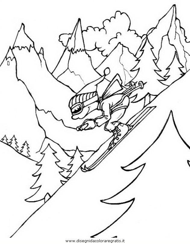 Disegno montagna 17 misti da colorare for Piccoli disegni di baite di montagna