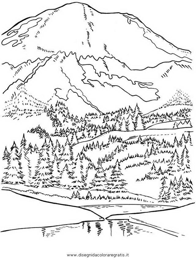 Disegno montagna 23 misti da colorare - Immagini da colorare delle montagne ...