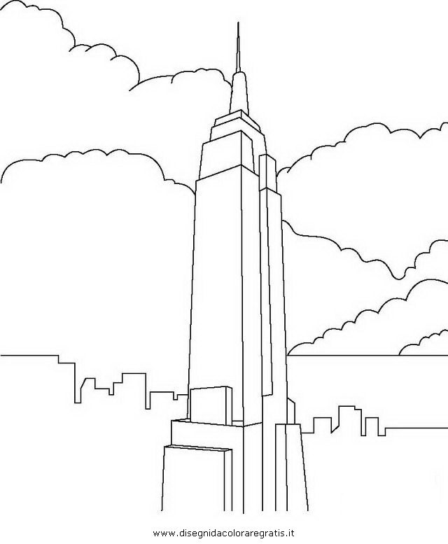 Disegno new york 1 misti da colorare for Immagini grattacieli di new york