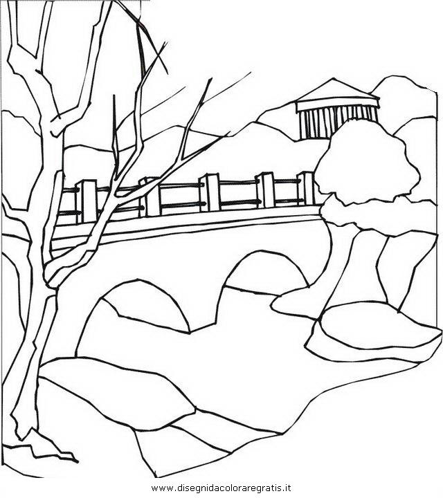 Disegno paesaggio 58 misti da colorare for Ponte sopra i disegni del garage