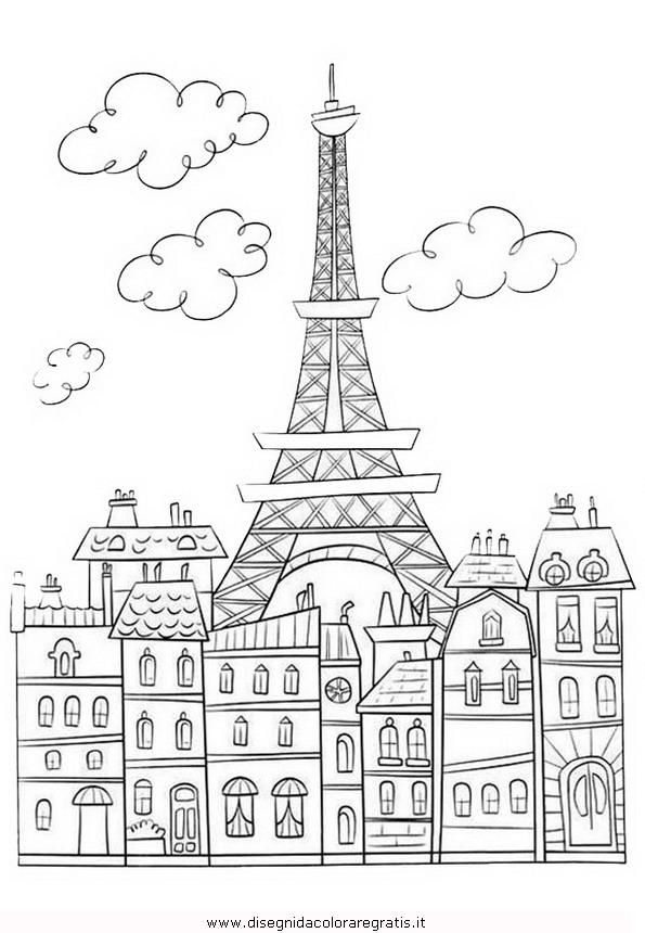 Disegno parigi 1 misti da colorare for Disegni da colorare per adulti paesaggi