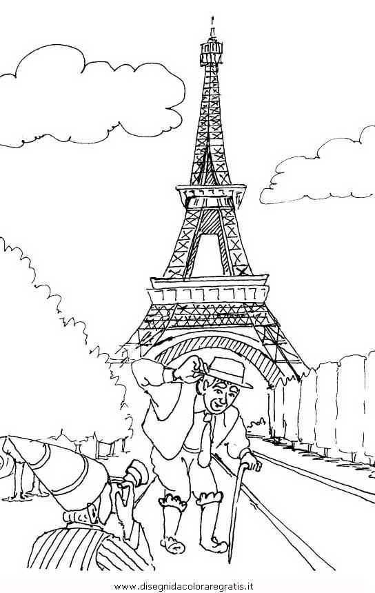 Disegno parigi 4 misti da colorare for Disegni marini da colorare