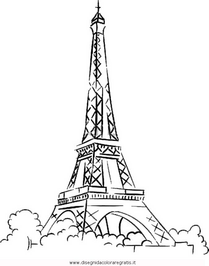 Disegno parigi 5 misti da colorare for Disegni paesaggi da colorare