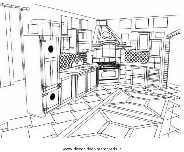 Awesome disegni cucina da stampare gallery home interior - Stencil cucina da stampare ...