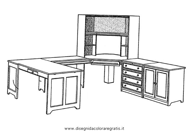 Disegno mobili misti da colorare for Disegni mobili casa