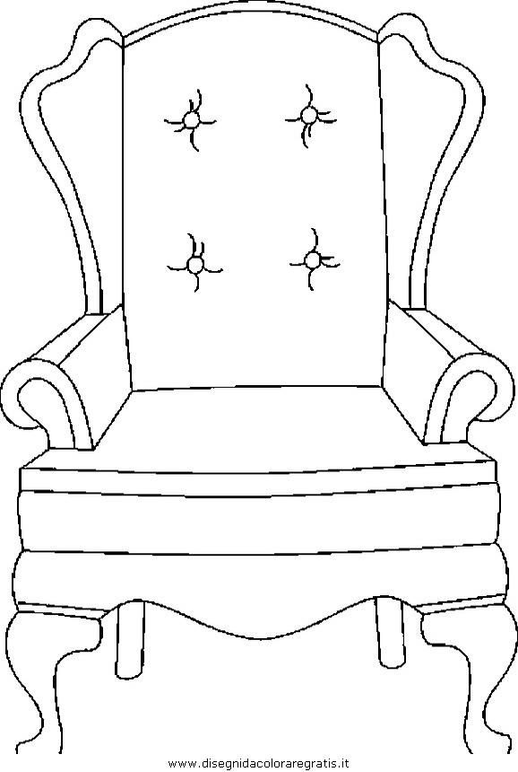 Disegno Poltrona 03 Misti Da Colorare