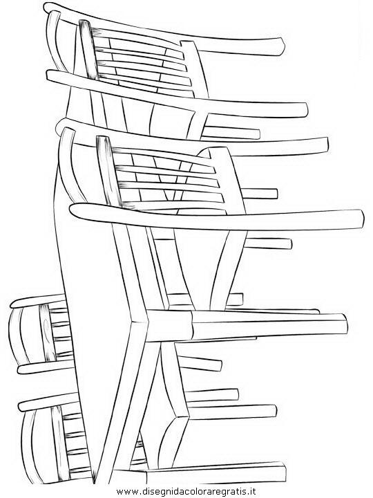 Disegno tavolo sedie4 misti da colorare for Disegni mobili