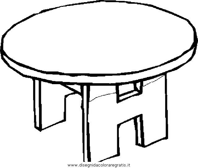 Disegno Tavolo Tavolino 107 Misti Da Colorare