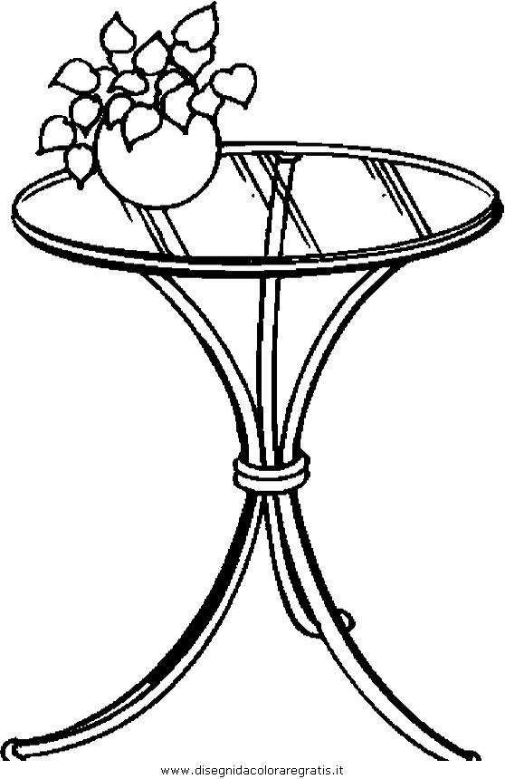 Disegno tavolo tavolino 99 misti da colorare - Il tavolo da disegno ...