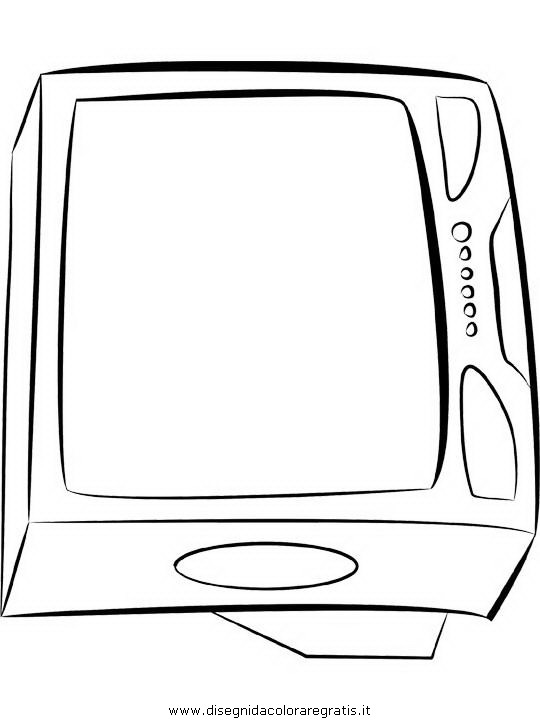 Disegno Televisione Da Colorare.Disegno Televisione Tv Misti Da Colorare