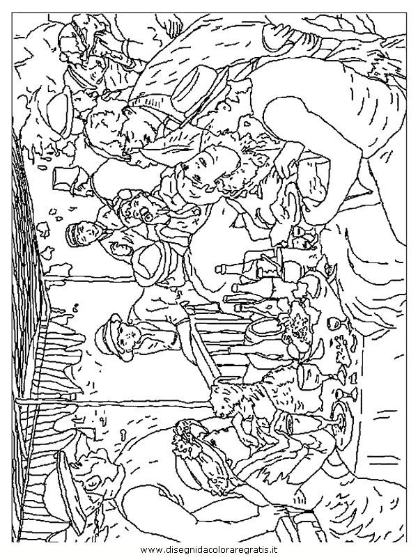 Disegno Renoir Canotiers Categoria Misti Da Colorare