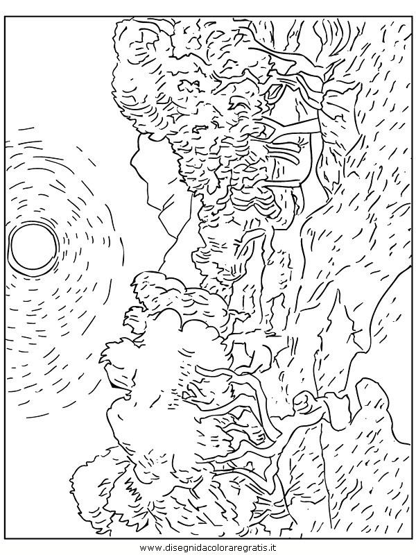 Disegno van gogh misti da colorare for Quadri famosi da colorare van gogh