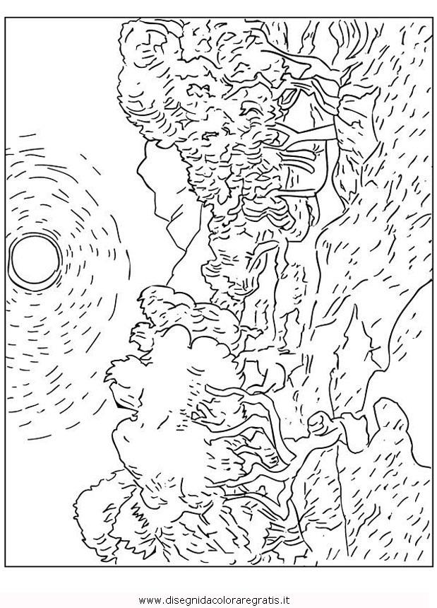 Disegno Van Gogh La Chiesa Di Auvers Misti Da Colorare