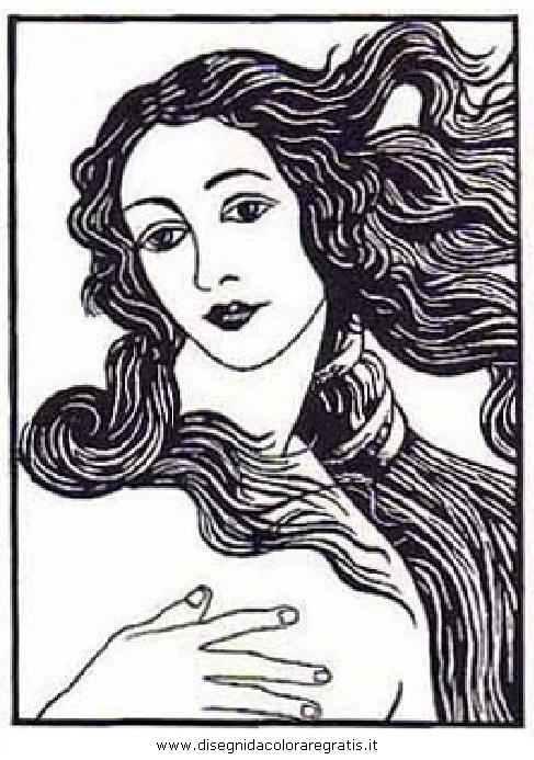 La Venere Di Botticelli Da Colorare Powermall