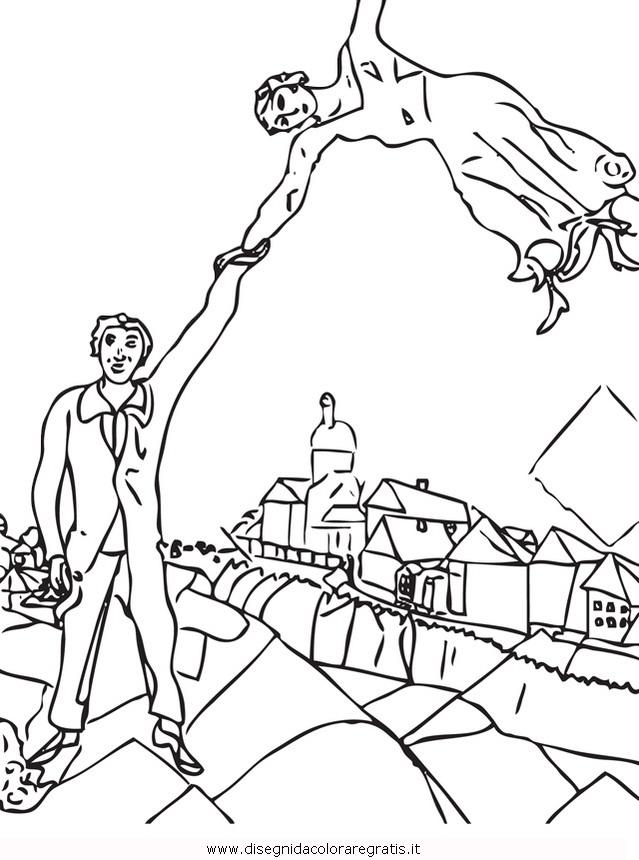 Disegno Chagall Misti Da Colorare