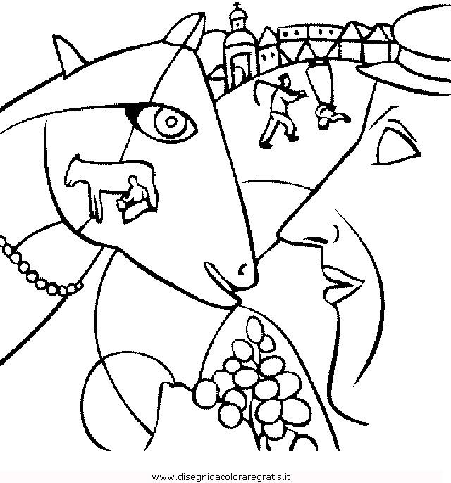 Disegno Chagall5 Misti Da Colorare