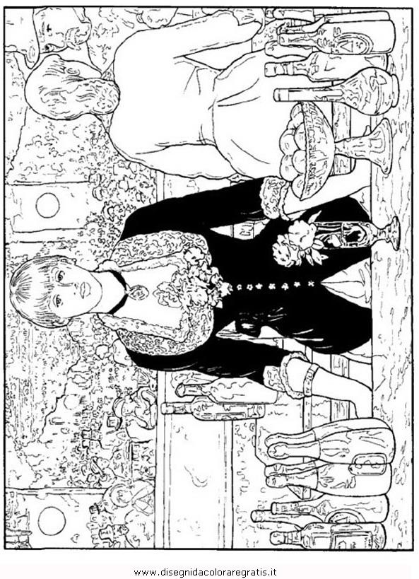Disegno Manet Bar Misti Da Colorare
