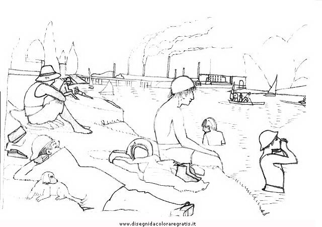 George seurat coloring pages rembrandt van rijn coloring for Seurat coloring pages