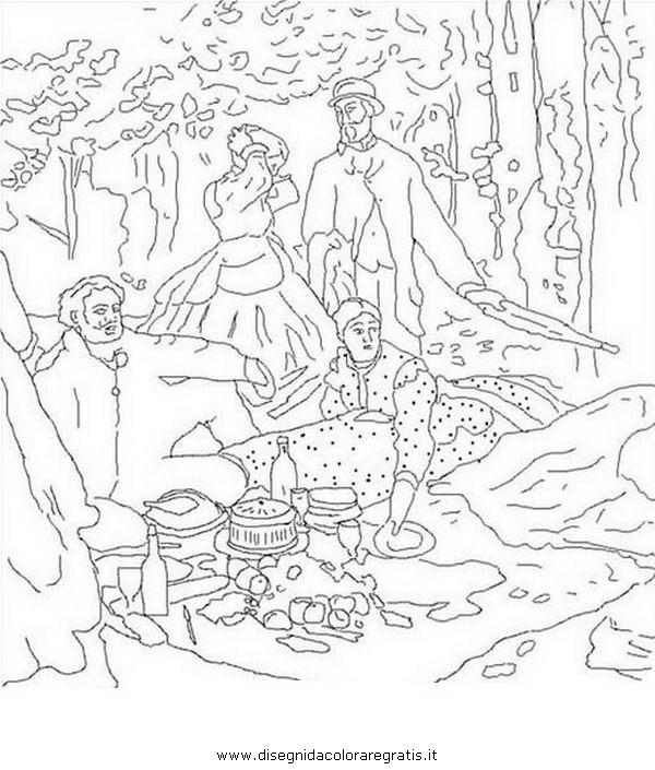 Disegno monet 01 misti da colorare for Quadri famosi da colorare van gogh