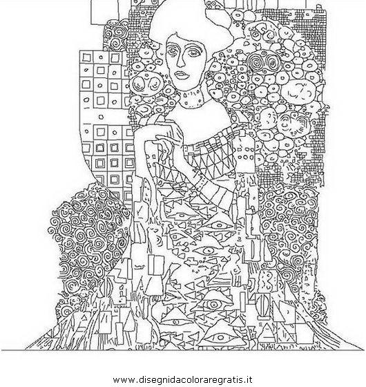 Disegno Klimt Misti Da Colorare