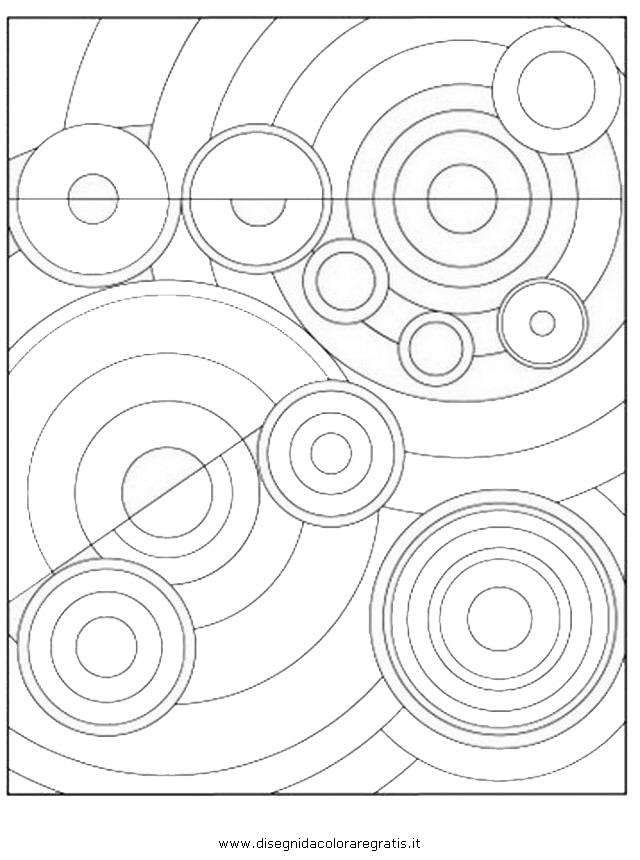 Disegno Kandinsky 02 misti da colorare