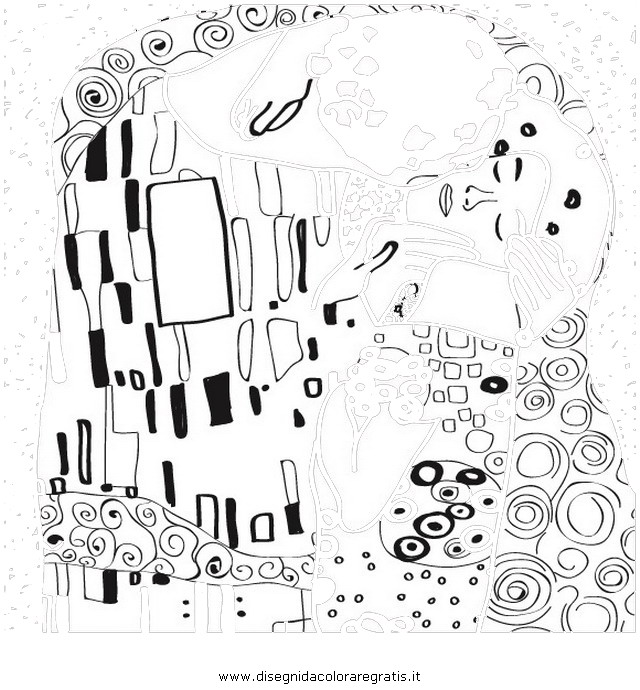 Disegno Klimt 01 Misti Da Colorare