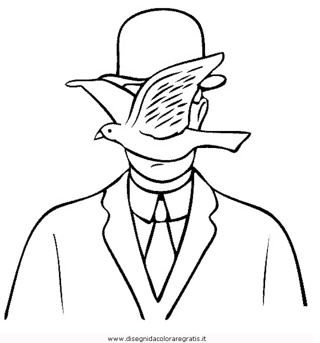 rene magritte coloring pages - photo#18