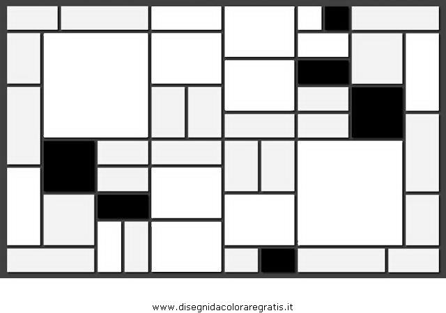 Disegno Mondrian Misti Da Colorare
