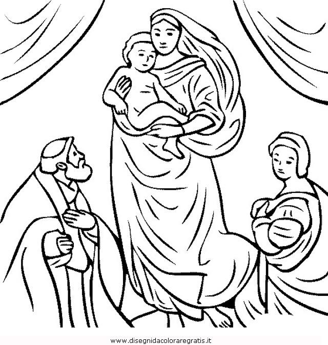 Disegno Raffaello Madonna Misti Da Colorare