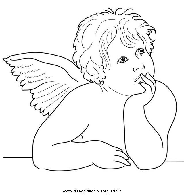 Disegno raffaello angioletti 02 misti da colorare for Disegni da colorare angeli
