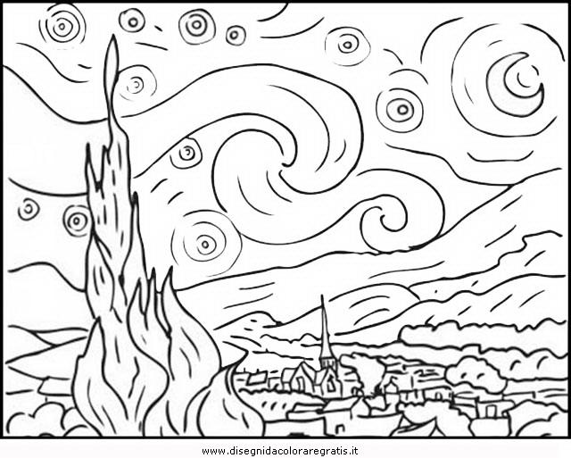 Disegno Van Gogh 02 Misti Da Colorare