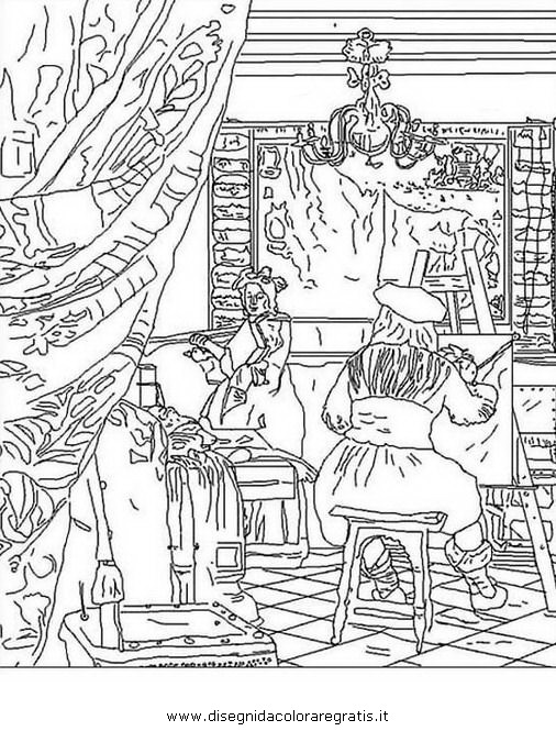 Disegno Van Gogh I Girasoli Misti Da Colorare