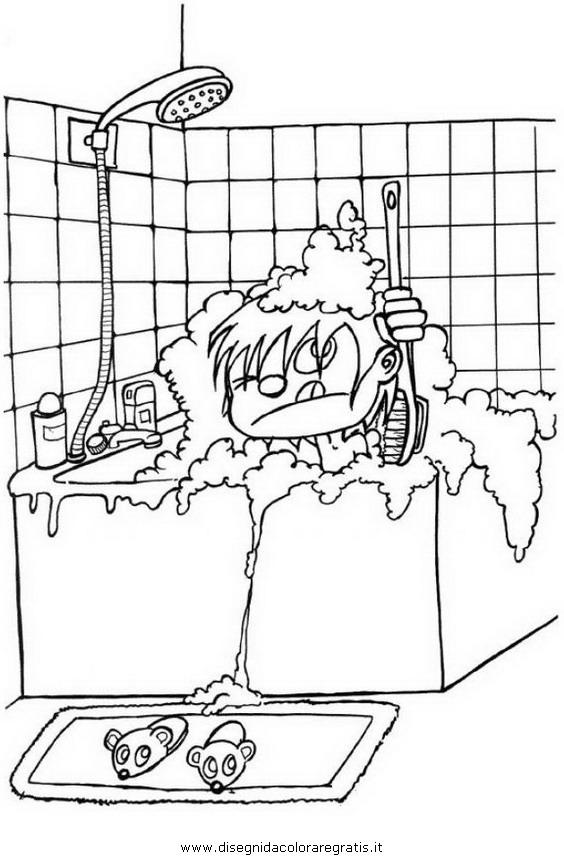 Disegno bagno 01 misti da colorare - Disegno finestra da colorare ...