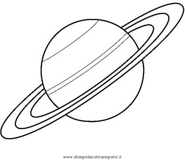 Disegno Saturno 2 Misti Da Colorare