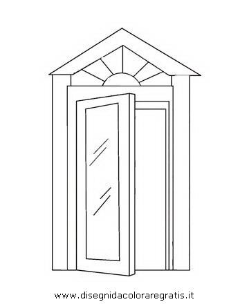 Disegno porta 02 misti da colorare - Porta da colorare ...