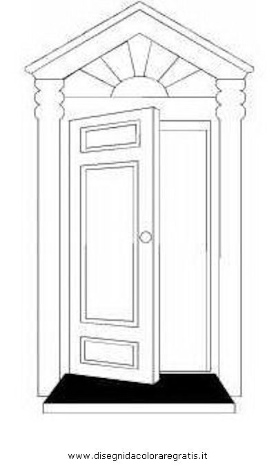 Disegno porta 03 misti da colorare - Porta da colorare ...