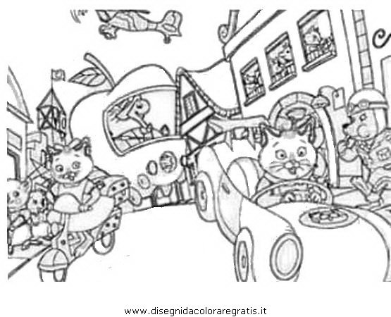 richard scarry halloween coloring pages - photo#13