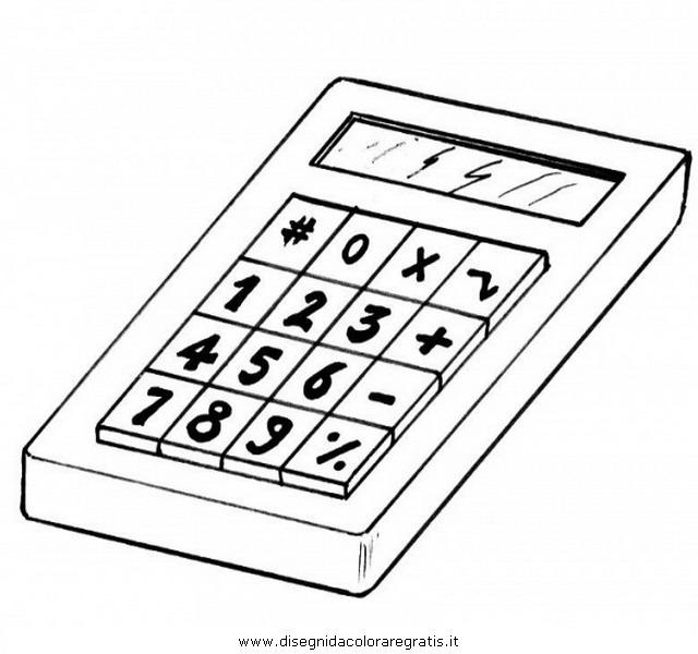 Disegno calcolatrice 5 misti da colorare for Immagini della pimpa da colorare
