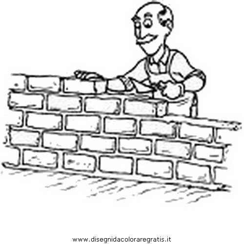 Disegno muro 05 misti da colorare for Muretto recinzione dwg