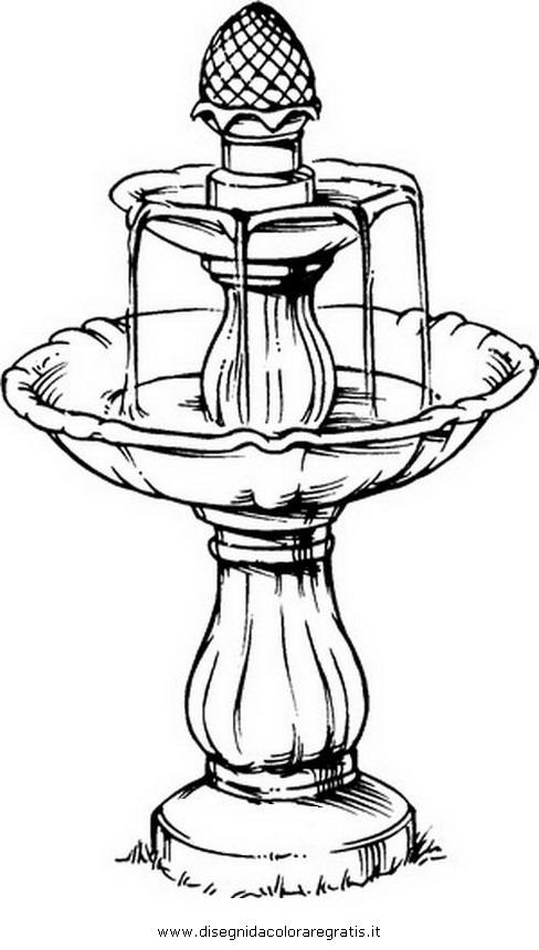 Disegno fontana misti da colorare for Sito per disegnare