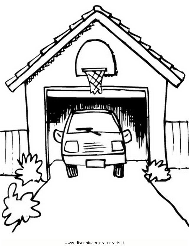 Garage coloring pages sketch coloring page for 8 piani di casa garage per auto