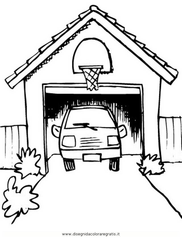 disegno garage misti da colorare