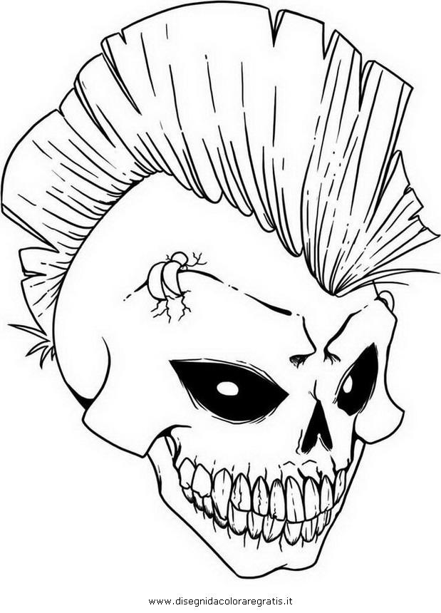 Disegno punk 1 misti da colorare for Teschi da disegnare