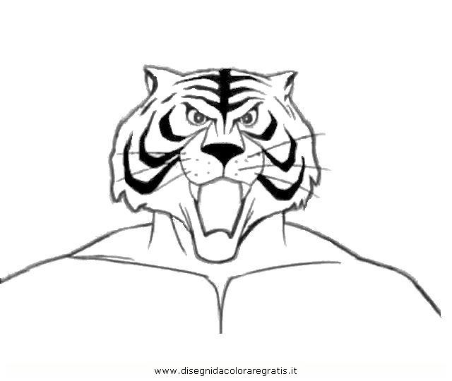 Disegno tiger man misti da colorare